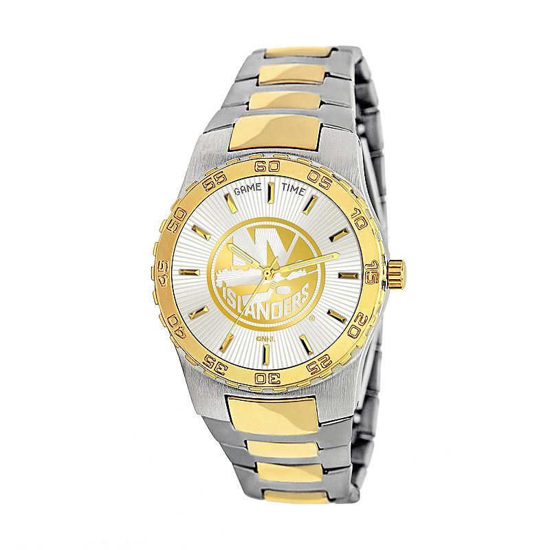 Game Time Executive Series New York Islanders Two Tone Stainless Steel Watch - NHL-EXE-NYI - Men