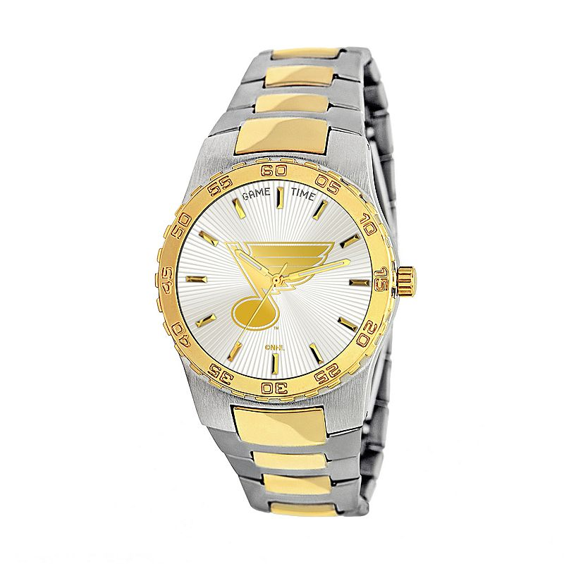 Game Time Executive Series St. Louis Blues Two Tone Stainless Steel Watch - NHL-EXE-STL - Men