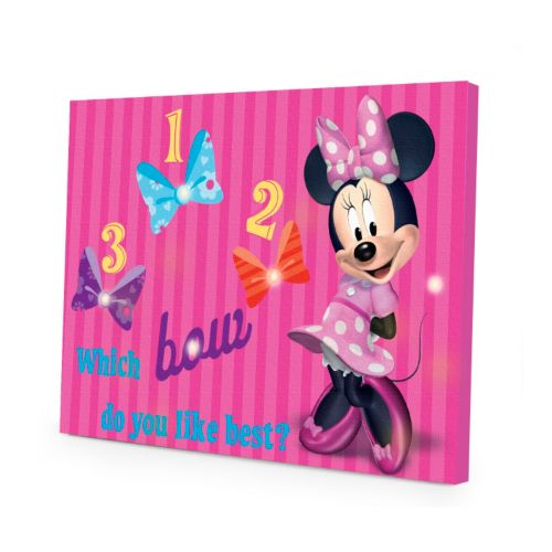 Disney Mickey Mouse and Friends Minnie Mouse LED Light-Up Canvas Wall Art