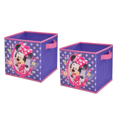 Disney Mickey Mouse and Friends Minnie Mouse 2-pk. Collapsible Storage Cubes