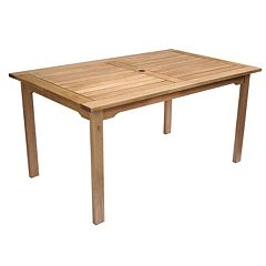 Amazonia Milano Rectangular Outdoor Dining Table by