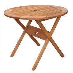 Amazonia Milano Round Outdoor Dining Table by