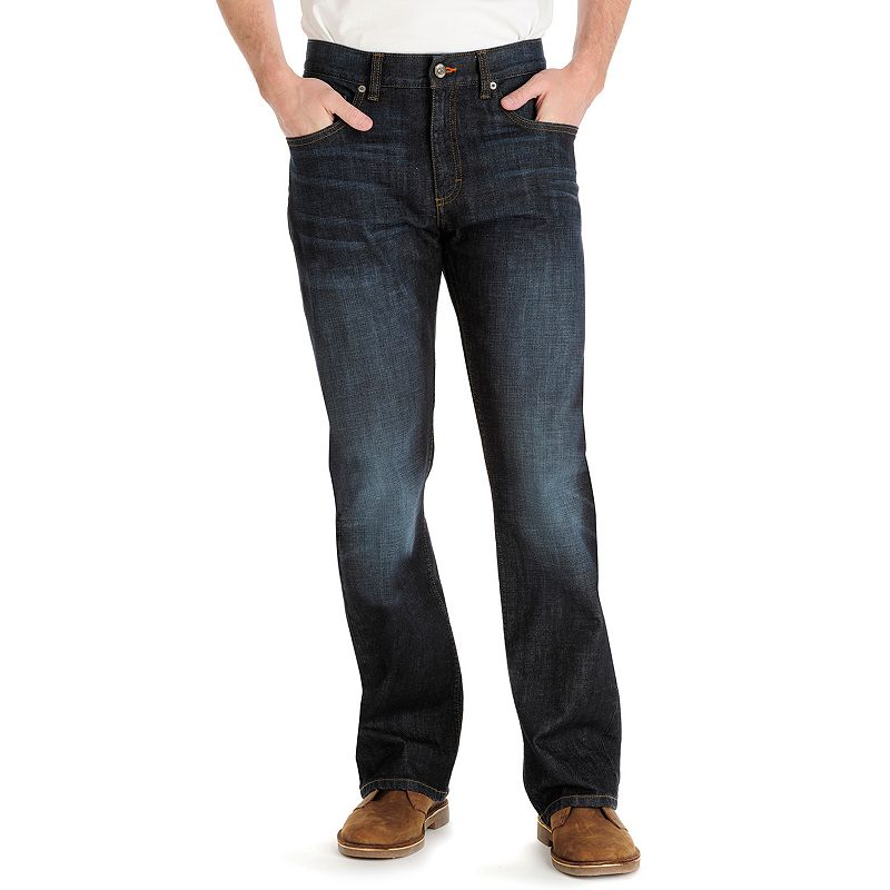 Men's Lee Modern Series Relaxed Bootcut Jeans, Size: 29X30, Dark Blue
