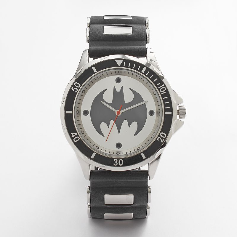 Batman watch men 39 s rubber for Watches kohls