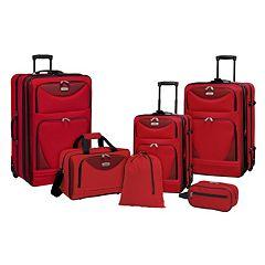Travelers Club Tone on Tone 6-Piece Wheeled Luggage Set