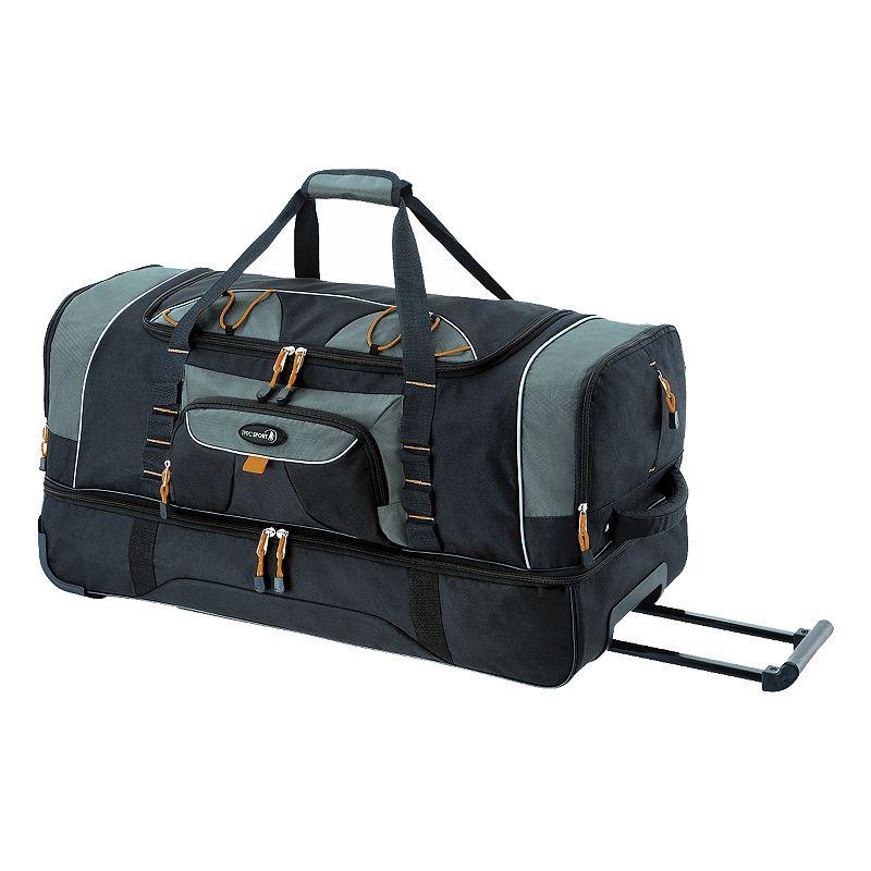 Travelers Club 30-Inch Drop-Bottom Rolling Duffel Bag