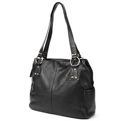 R&R Leather Pocket Leather Tote by