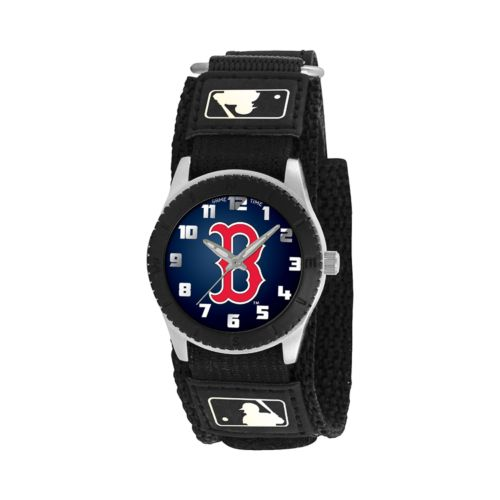 Game Time Rookie Series Boston Red Sox Silver Tone Watch - MLB-ROB-BOS - Kids