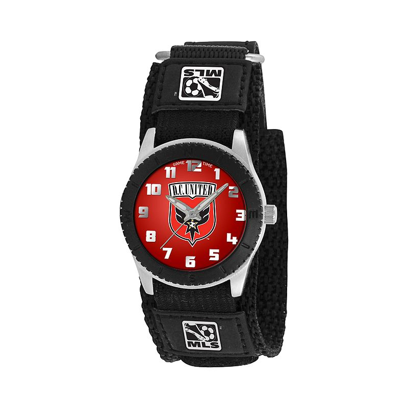 Game Time Rookie Series D.C. United Silver Tone Watch - MLS-ROB-DC - Kids
