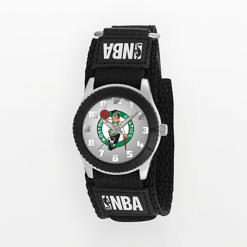 Game Time Rookie Series Boston Celtics Silver Tone Watch - NBA-ROB-BOS - Kids