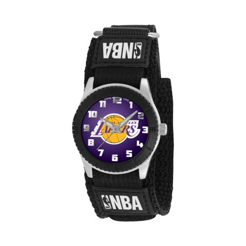 Game Time Rookie Series Los Angeles Lakers Silver Tone Watch - NBA-ROB-LAL - Kids