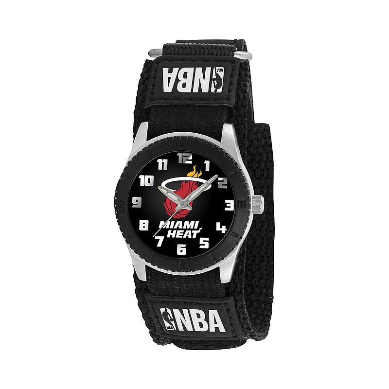Game Time Rookie Series Miami Heat Silver Tone Watch - NBA-ROB-MIA - Kids