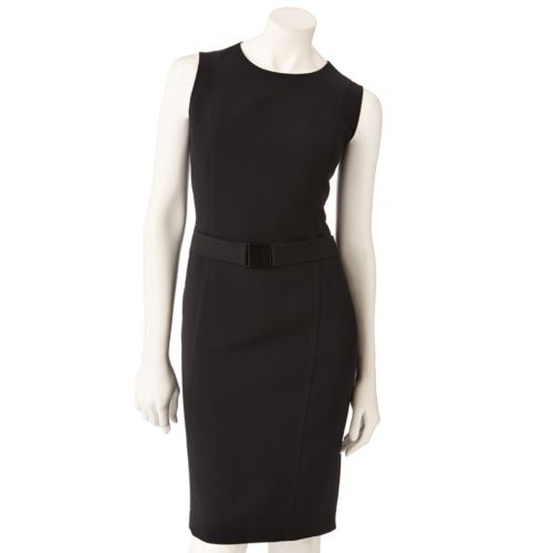 Vicky Tiel Solid Sheath Dress - Women's
