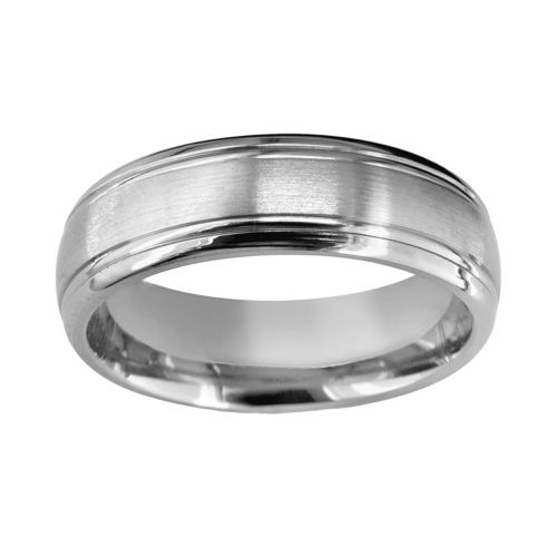 Titanium Double Groove Wedding Band - Men
