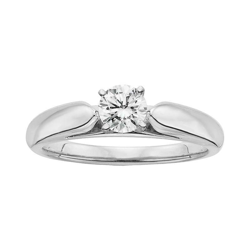 18k White Gold 1/2-ct. T.W. Ideal-Cut IGL Certified Diamond Solitaire Ring
