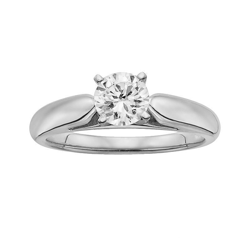 18k White Gold 3/4-ct. T.W. Ideal-Cut IGL Certified Diamond Solitaire Ring