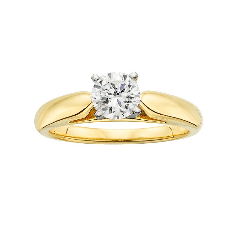 18k Gold 3/4-ct. T.W. Ideal-Cut IGL Certified Diamond Solitaire Ring