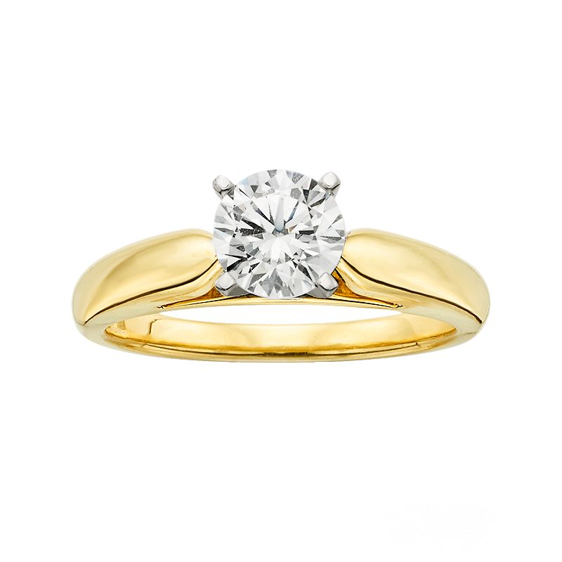 18k Gold 1-ct. T.W. Ideal-Cut IGL Certified Diamond Solitaire Ring