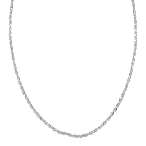 Sterling Silver 16-in. Diamond-Cut Rope Chain Necklace