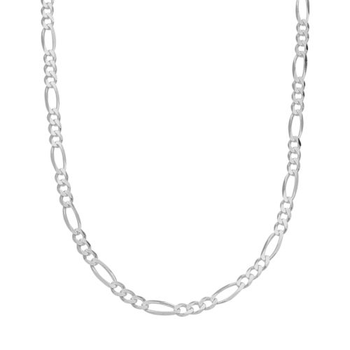 Sterling Silver Figaro Chain Necklace - 20-in.