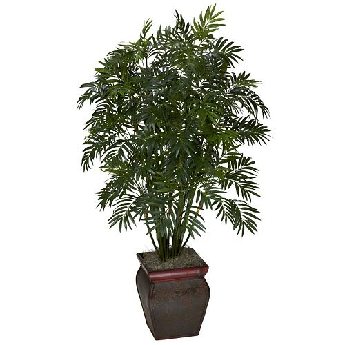 Nearly Natural Silk Mini Bamboo Palm Plant