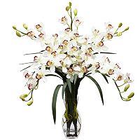 nearly natural Liquid Illusion Silk Cymbidium Floral Arrangement