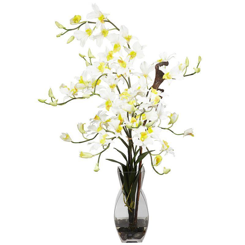 nearly natural Liquid Illusion Silk Dendrobium Orchid Floral Arrangement