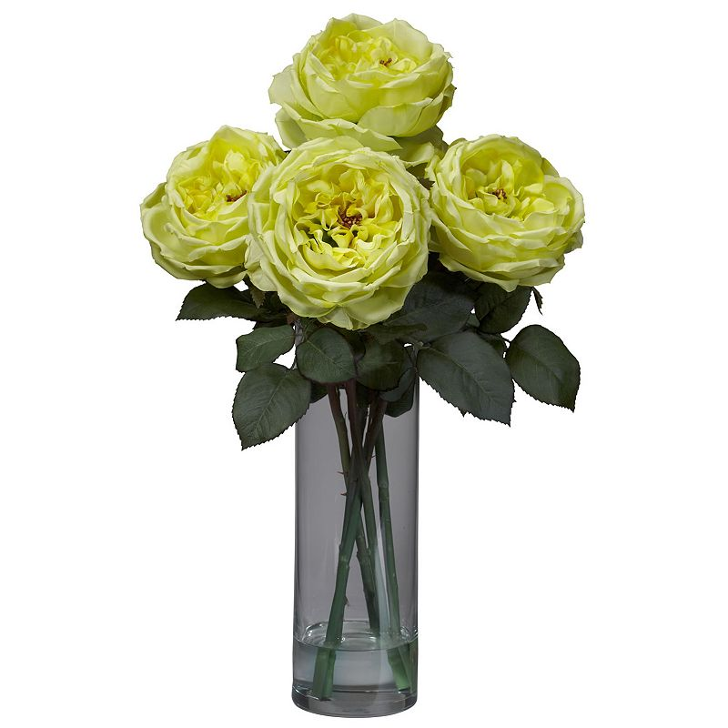 nearly natural Liquid Illusion Silk Fancy Rose Floral Arrangement