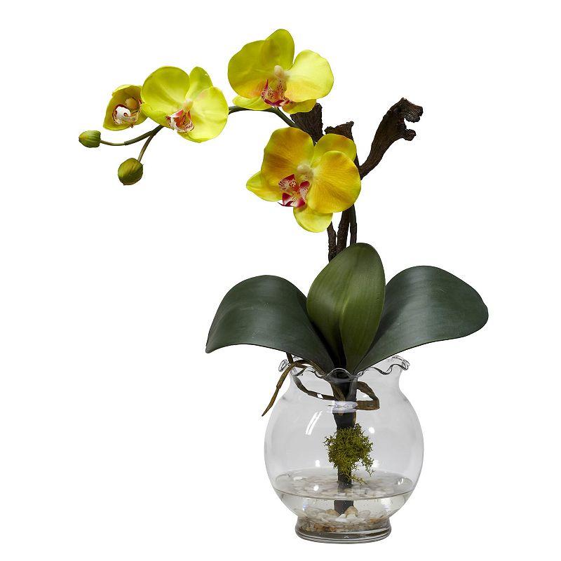 nearly natural Liquid Illusion Silk Phalaenopsis Floral Arrangement