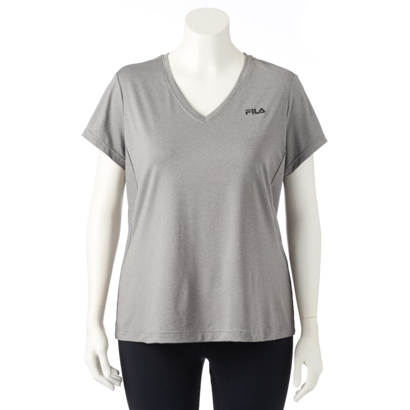 Plus Size FILA Sport Core Essential Racer Performance Tee, Women's, Size: 1X, Grey