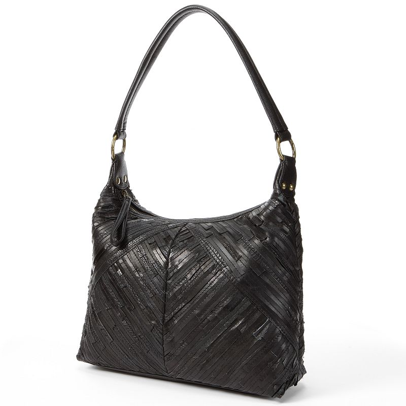 R&R Leather Patchwork Leather Hobo