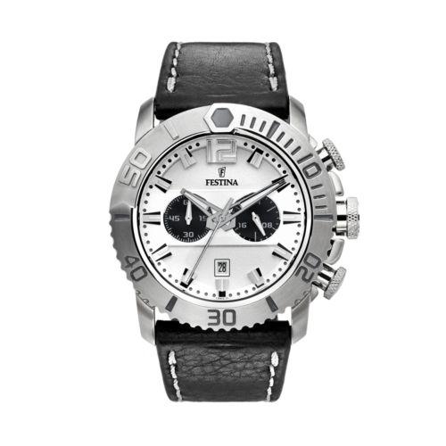Festina Men's Leather Chronograph Watch - F16614/1