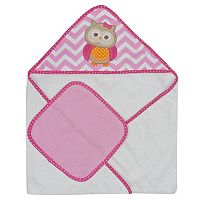Neat Solutions Owl Hooded Towel & Washcloth Set