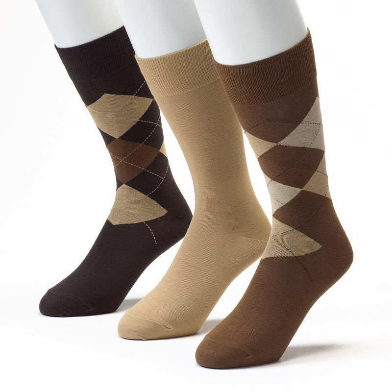Men's Jockey 3-pk. Staycool 360 Stretch Argyle and Solid Dress Socks