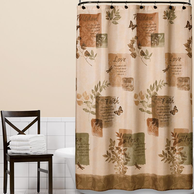 beige shower curtain | kohl's