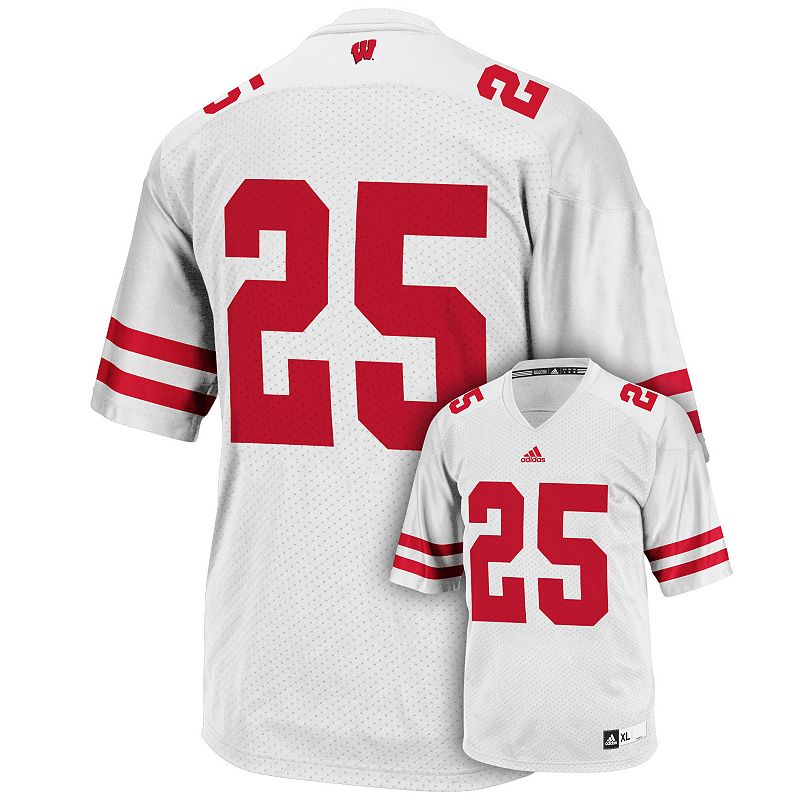 Men's adidas Wisconsin Badgers White Replica Football Jersey