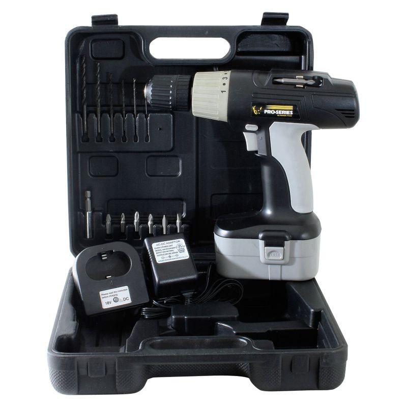18-Volt Cordless Drill Kit, Multicolor