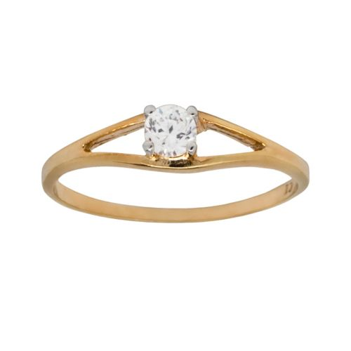K'Dorable 18k Gold Over Silver Cubic Zirconia Ring - Kids