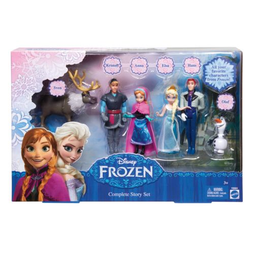 Disney's Frozen Small Doll Complete Story Play Set by Mattel
