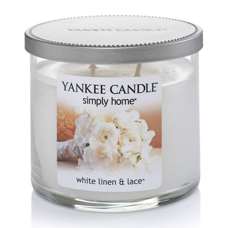 Yankee Candle simply home 10-oz. White Linen and Lace Jar Candle