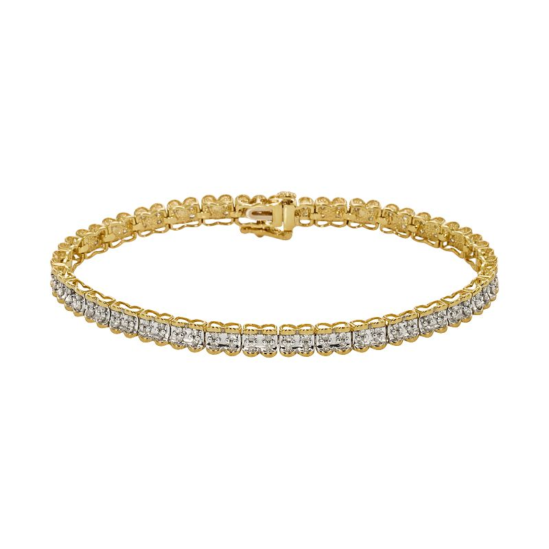 10k Gold 1-ct. T.W. Round-Cut Diamond Bracelet