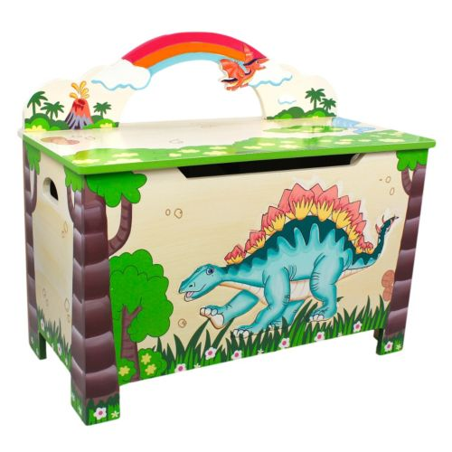 Teamson Kids Fantasy Fields Dinosaur Kingdom Toy Chest