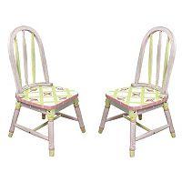 Teamson Kids Floral Crackled Chair Set