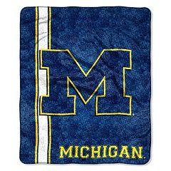 Michigan Wolverines Sherpa Throw Blanket