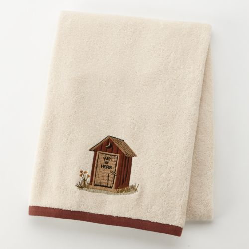 Outhouse Embroidered Bath Towel