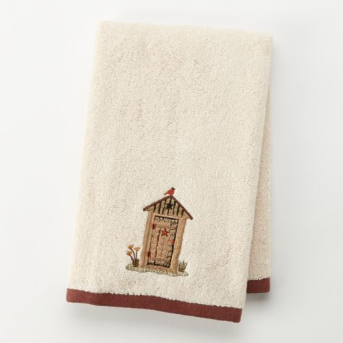 Outhouse Embroidered Hand Towel
