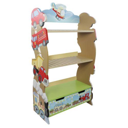 Teamson Kids Fantasy Fields Transportation Bookcase