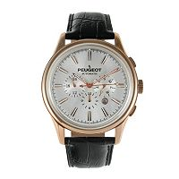 Peugeot Men's Automatic Leather Skeleton Watch - MK910RBK