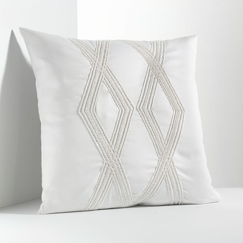 Simply Vera Vera Wang Solid Bugle Bead Decorative Pillow