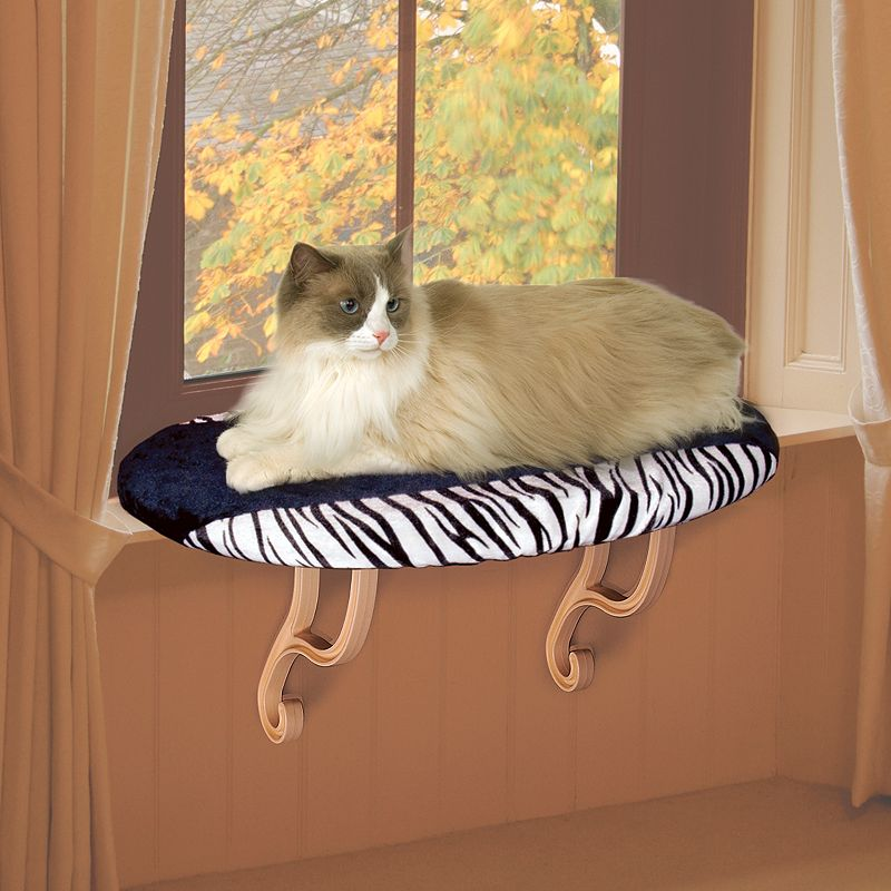 K and H Pet Zebra Kitty Window Perch